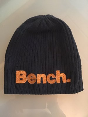 Bench Chapeau en tricot bleu foncé-orange