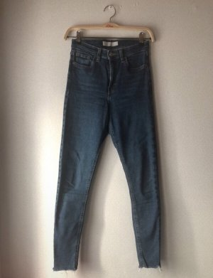 Dunkelblaue Topshop Jamie Jeans
