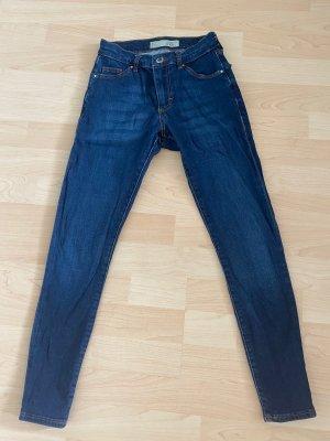 Topshop Petite Jeans cigarette bleu-bleu foncé coton