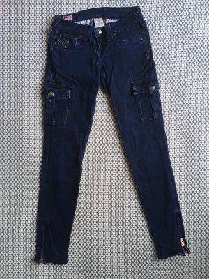 Dunkelblaue True Religion Jeans