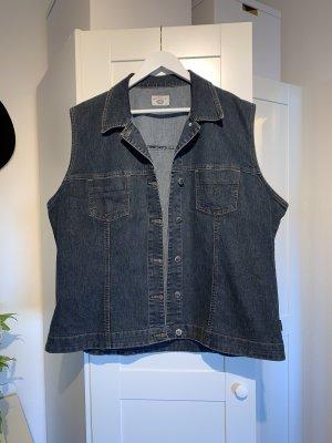Dunkelblaue Vintage Jeans Jacke in Größe 46