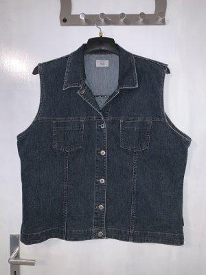 Dunkelblaue Vintage Jeans Weste in Größe 46