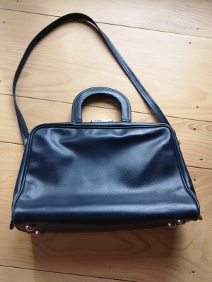 dunkelblaue Vintage Tasche