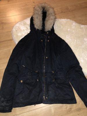 Dunkelblaue winterjacke aus Zara