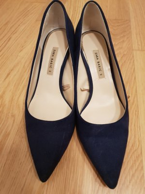 Zara Basic Stiletto doré-bleu foncé