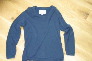 Anne L. V-Neck Sweater dark blue