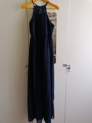 Robe de bal bleu foncé