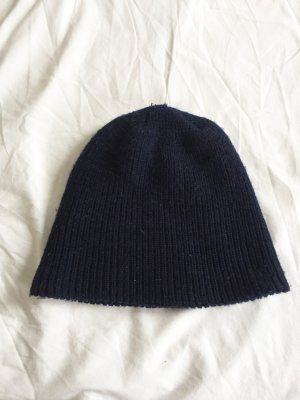 H&M Bonnet bleu foncé-bleu