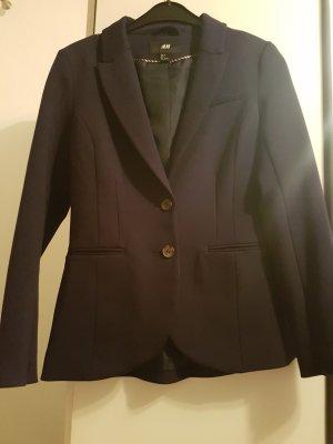 H&M Blazer sweat noir-bleu foncé
