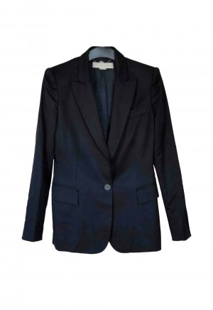 Stella McCartney Klassischer Blazer azul oscuro-azul Lana