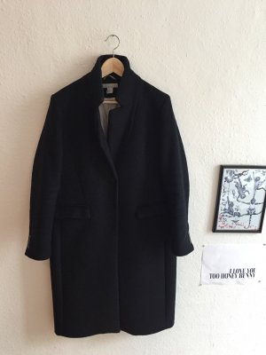 H&M Premium Oversized Coat dark blue-dusky pink