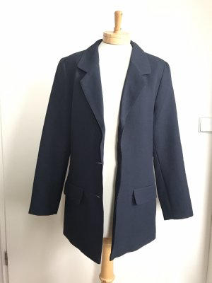 Tuxedo Blazer dark blue-gold-colored polyester