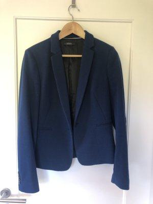 Esprit Blazer de lana azul oscuro-petróleo