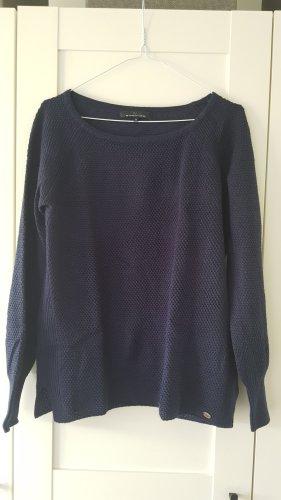 Only Crochet Sweater dark blue