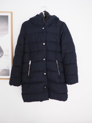Mango Quilted Coat dark blue