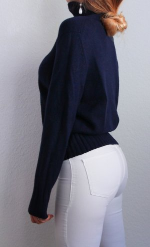 Peter Hahn Pull en cashemire bleu foncé-bleu cachemire