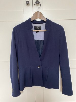 H&M Korte blazer donkerblauw