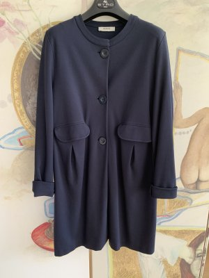 Alpha Studio Short Coat dark blue viscose