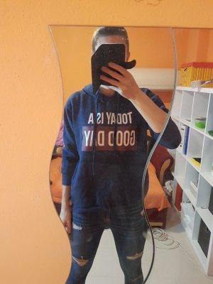 Zara Sweter z kapturem ciemnoniebieski