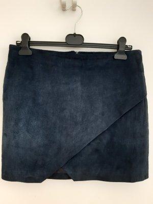 dunkelblauer Lederrock Gr 40