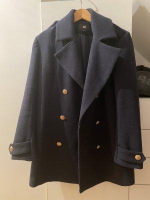 Dunkelblauer Mantel von H&M - wie neu!
