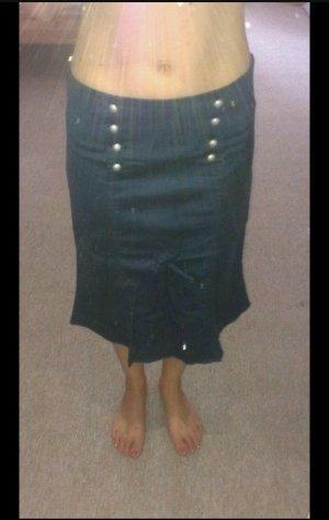 Orsay Spódnica midi srebrny-ciemnoniebieski