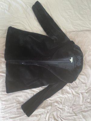 Dunkelblauer Pelzmantel, nie getragen