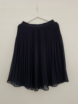 H&M Jupe plissée bleu foncé-bleu