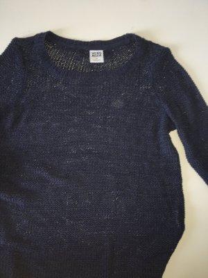 Vero Moda Szydełkowany sweter ciemnoniebieski