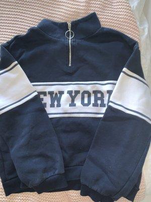 Dunkelblauer Pullover NEW YORK