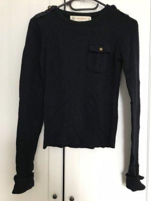 Dunkelblauer Pullover von Zara knitwear