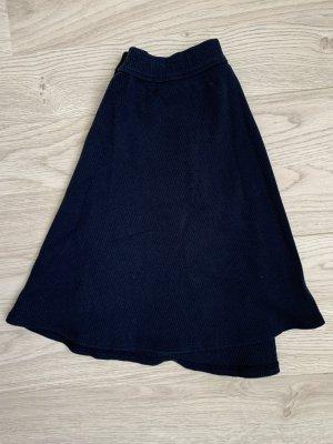 Hollister Falda de talle alto azul oscuro