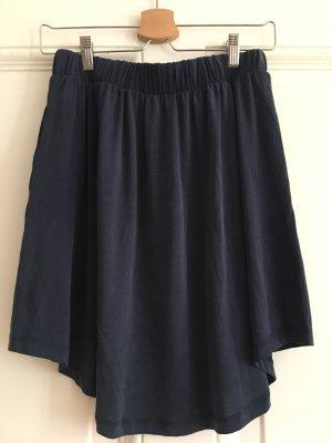 Minimum Falda asimétrica azul oscuro