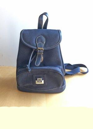 Mały plecak ciemnoniebieski Tkanina z mieszanych włókien