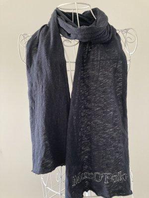 Marc O'Polo Bufanda de lana azul oscuro