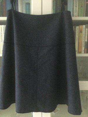 Madeleine Jupe en laine bleu foncé laine