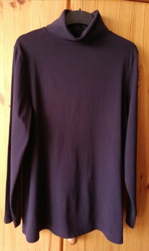 Ulla Popken Turtleneck Shirt dark blue cotton
