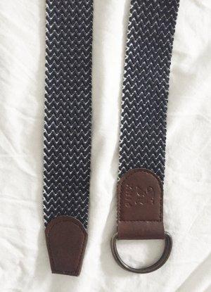 Cinturón de tela multicolor tejido mezclado