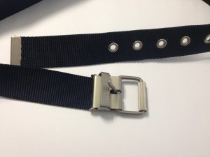 Esprit Belt dark blue-silver-colored