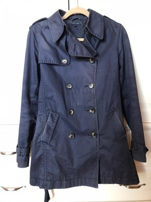 Tommy Hilfiger Trench blu scuro Cotone