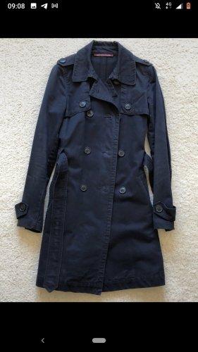 Dunkelblauer Trenchcoat im Vintage-Look von Comptoir des Cotonniers, Größe 34