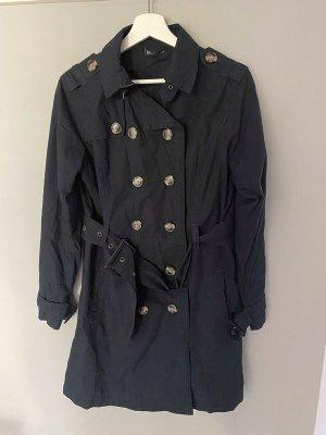 Dunkelblauer Trenchcoat / Mantel von Janina, Gr. 38