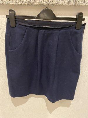 Marco Polo Wełniana spódnica ciemnoniebieski Wełna