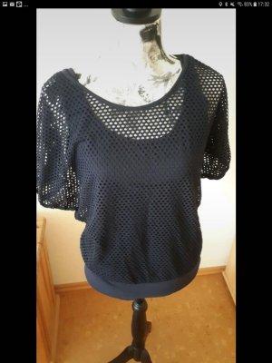Flame Camisa de malla azul oscuro
