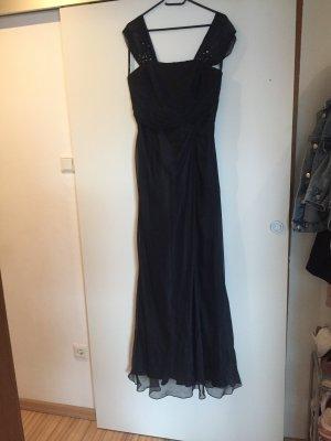 Dunkelblaues Abendkleid - A-Linie