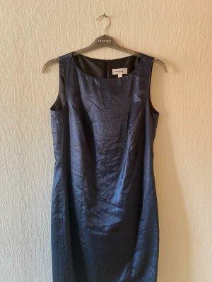 Amalfi Midi Dress dark blue viscose