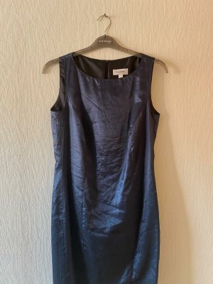 Amalfi Sukienka midi ciemnoniebieski Wiskoza