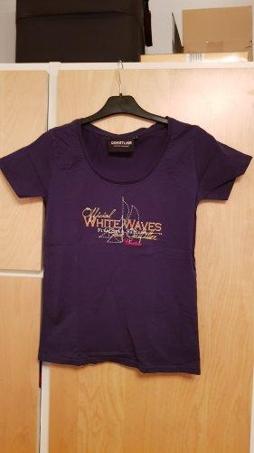 Dunkelblaues bedrucktes T-Shirt,Gr.38