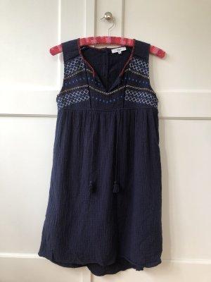 Dunkelblaues, besticktes Suncoo Kleid