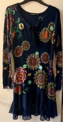 Desigual Vestido estilo flounce multicolor